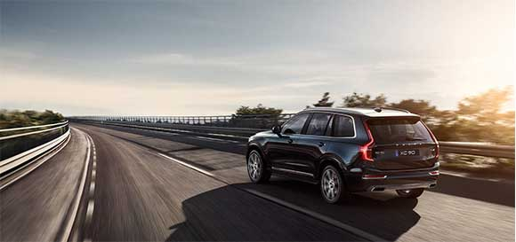 Volvo XC90 Driving on Tar Road